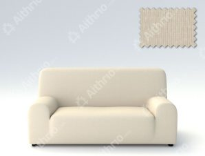 Ελαστικά Καλύμματα Προσαρμογής Σχήματος Καναπέ Peru-Ιβουάρ-Διθέσιος-10+ Χρώματα Διαθέσιμα-Καλύμματα Σαλονιού