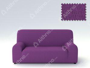 Ελαστικά Καλύμματα Προσαρμογής Σχήματος Καναπέ Peru-Μωβ-Τριθέσιος-10+ Χρώματα Διαθέσιμα-Καλύμματα Σαλονιού