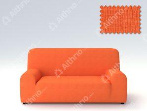 Ελαστικά Καλύμματα Προσαρμογής Σχήματος Καναπέ Peru-Πορτοκαλί-Διθέσιος-10+ Χρώματα Διαθέσιμα-Καλύμματα Σαλονιού
