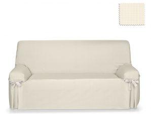 Καλύμματα καναπέ σταθερά με δέστρες Praga-Ιβουάρ-Πολυθρόνα