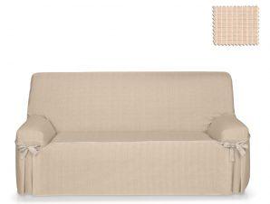 Καλύμματα καναπέ σταθερά με δέστρες Praga-Λινό-Τριθέσιος