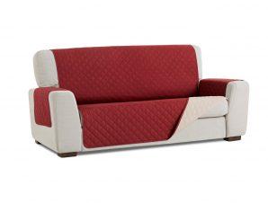 Σταθερά Καλύμματα Καναπέ, Πολυθρόνας Διπλής Όψης- σχ. Universal Quilt – Κόκκινο/Μπεζ – Μεγάλος Τριθέσιος-10+ Χρώματα Διαθέσιμα-Καλύμματα Σαλονιού