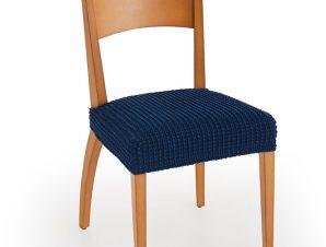 Σετ (2 Τμχ) Ελαστικά Καλύμματα-Καπάκια Καρέκλας Super Stretch Milos – C/4 Μπλε