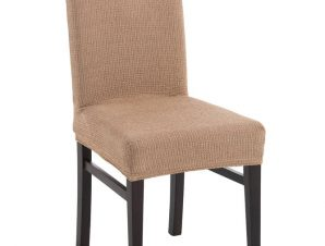 Σετ (2 Τμχ) Ελαστικά Καλύμματα Καρέκλας Με Πλάτη Bielastic Elegant – C/18 Λινό