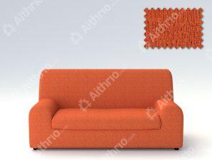 Ελαστικά καλύμματα καναπέ Ξεχωριστό Μαξιλάρι Valencia-Τριθέσιος-Πορτοκαλί-10+ Χρώματα Διαθέσιμα-Καλύμματα Σαλονιού