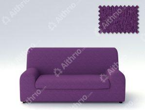 Ελαστικά καλύμματα καναπέ Ξεχωριστό Μαξιλάρι Valencia-Τριθέσιος-Μωβ-10+ Χρώματα Διαθέσιμα-Καλύμματα Σαλονιού