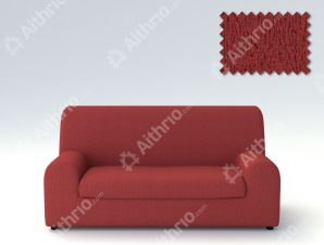 Ελαστικά καλύμματα καναπέ Ξεχωριστό Μαξιλάρι Valencia-Τριθέσιος-Κεραμιδί-10+ Χρώματα Διαθέσιμα-Καλύμματα Σαλονιού