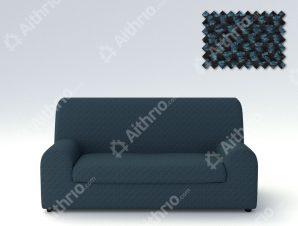 Ελαστικά καλύμματα καναπέ Ξεχωριστό Μαξιλάρι Bielastic Viena-Διθέσιος-Μπλε-10+ Χρώματα Διαθέσιμα-Καλύμματα Σαλονιού