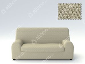 Ελαστικά καλύμματα καναπέ Ξεχωριστό Μαξιλάρι Bielastic Viena-Διθέσιος-Μπεζ-10+ Χρώματα Διαθέσιμα-Καλύμματα Σαλονιού