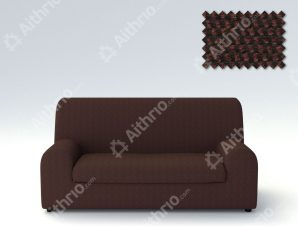 Ελαστικά καλύμματα καναπέ Ξεχωριστό Μαξιλάρι Bielastic Viena-Διθέσιος-Καφέ-10+ Χρώματα Διαθέσιμα-Καλύμματα Σαλονιού