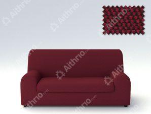 Ελαστικά καλύμματα καναπέ Ξεχωριστό Μαξιλάρι Bielastic Viena-Τριθέσιος-Μπορντώ-10+ Χρώματα Διαθέσιμα-Καλύμματα Σαλονιού