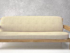 Ελαστικά καλύμματα καναπέ με ξύλινα μπράτσα Tania-Τριθέσιος-Εκρου-10+ Χρώματα Διαθέσιμα-Καλύμματα Σαλονιού