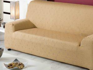 Ελαστικά καλύμματα καναπέ Tania-Τετραθέσιος-Μπεζ-10+ Χρώματα Διαθέσιμα-Καλύμματα Σαλονιού