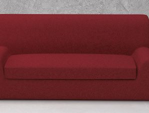 Ελαστικά καλύμματα καναπέ Ξεχωριστό Μαξιλάρι Valencia-Διθέσιος-Μπορντώ-10+ Χρώματα Διαθέσιμα-Καλύμματα Σαλονιού