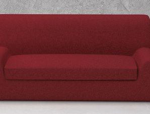 Ελαστικά καλύμματα καναπέ Ξεχωριστό Μαξιλάρι Valencia-Τριθέσιος-Μπορντώ-10+ Χρώματα Διαθέσιμα-Καλύμματα Σαλονιού