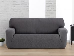 Ελαστικά καλύμματα καναπέ Valencia-Τριθέσιος-Γκρι-10+ Χρώματα Διαθέσιμα-Καλύμματα Σαλονιού