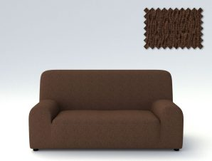 Ελαστικά καλύμματα καναπέ Valencia-Πολυθρόνα-Καφέ-10+ Χρώματα Διαθέσιμα-Καλύμματα Σαλονιού