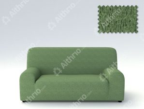 Ελαστικά καλύμματα καναπέ Valencia-Τριθέσιος-Πράσινο