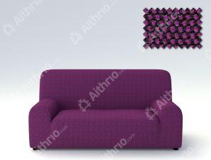 Ελαστικά Καλύμματα Προσαρμογής Σχήματος Καναπέ Viena – C/9 Μωβ – Τριθέσιος-10+ Χρώματα Διαθέσιμα-Καλύμματα Σαλονιού