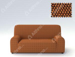 Ελαστικά Καλύμματα Προσαρμογής Σχήματος Καναπέ Viena – C/7 Πορτοκαλί – Τριθέσιος-10+ Χρώματα Διαθέσιμα-Καλύμματα Σαλονιού