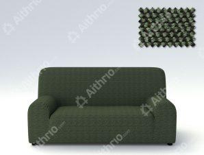Ελαστικά Καλύμματα Προσαρμογής Σχήματος Καναπέ Viena – C/6 Πράσινο – Τριθέσιος-10+ Χρώματα Διαθέσιμα-Καλύμματα Σαλονιού